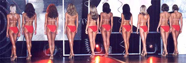 ilustrační foto z finále Miss aerobik v roce 2003