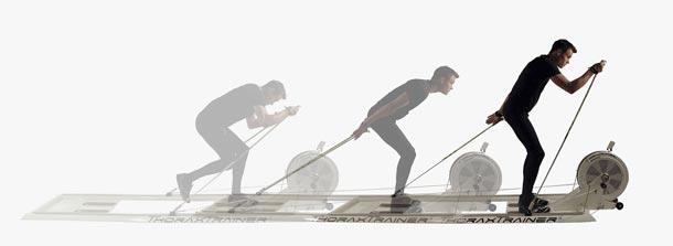 ThoraxTrainer® - běžkařský trenažér ve fitness Aquapalace Praha. Údajně stačí  10 minut 2x týdně.