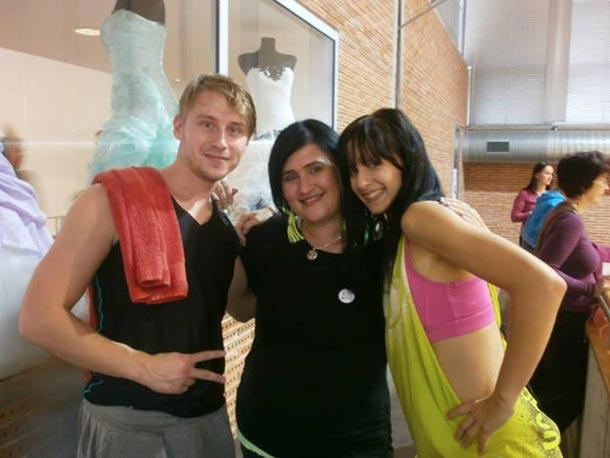Lenka (uprostřed) na Litex Aerobic Show