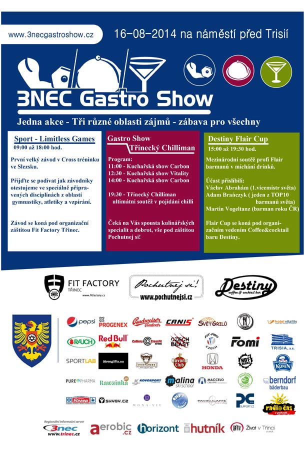 1. ročník festivalu 3NEC Gastro Show