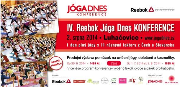 Vyhrajte vstupenky na IV. Reebok Jóga Dnes Konferenci do haly A