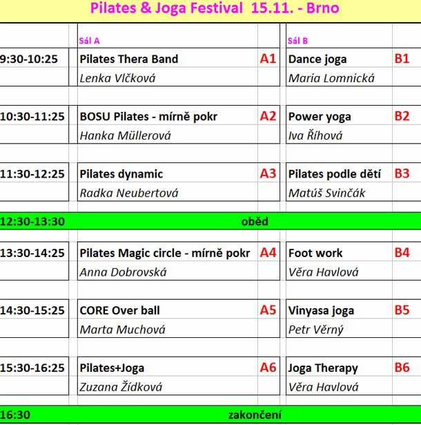 Pilates & Joga Festival  15.11. - Brno