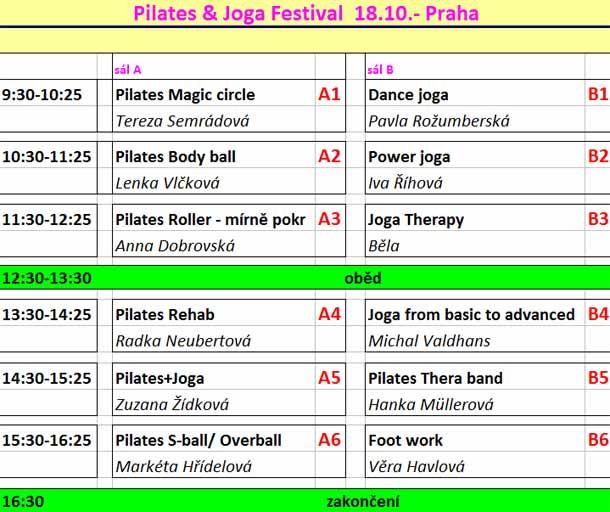 Pilates & Joga Festival  18.10.- Praha