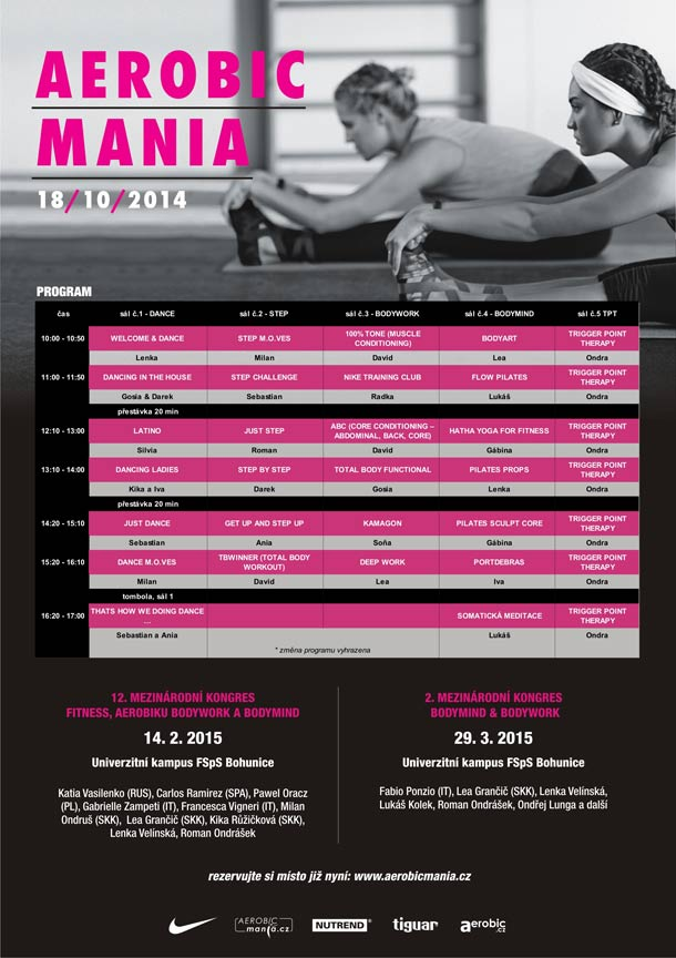 AEROBICMANIA - Mezinárodní kongres aerobiku, fitness a Body&mind