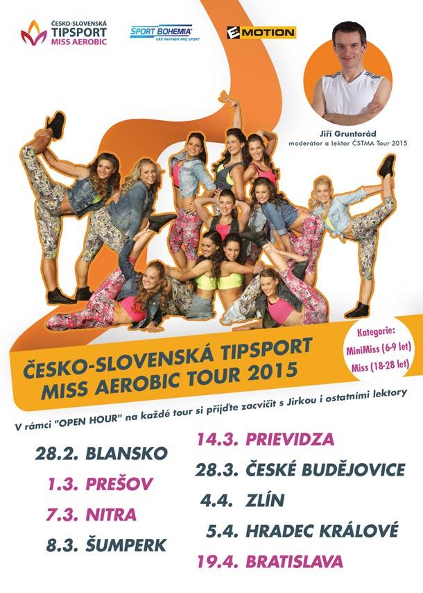 Druhý ročník Česko-Slovenské Tipsport Miss Aerobic na spadnutí!