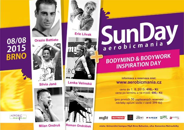 Vyhrajte vstupenky na Aerobicmania SUN Day 2015 a Bodymind & Bodywork inspiration Day
