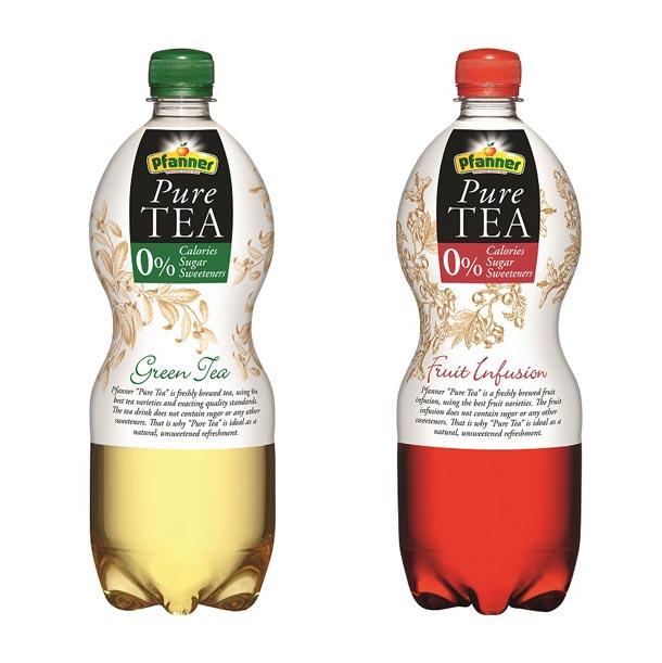 Pfanner Pure Tea bez obsahu cukru, sladidel a dalších přidaných látek