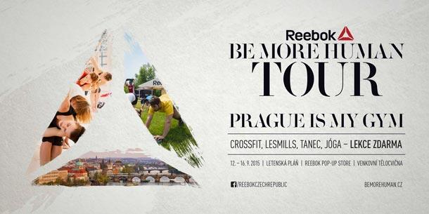 Venkovní tělocvična Reebok Be More Human Tour se vrací: od soboty 12. září do středy 16. září budou v Praze na Letné zdarma lekce se špičkovými instruktory jógy, les mills, crossfitu a tance!