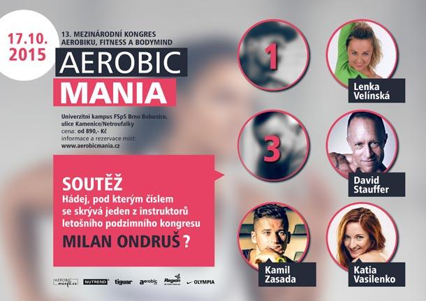 Soutěž o vstupenky na podzimní i jarní kongres Aerobicmania pokračuje již pátým kolem