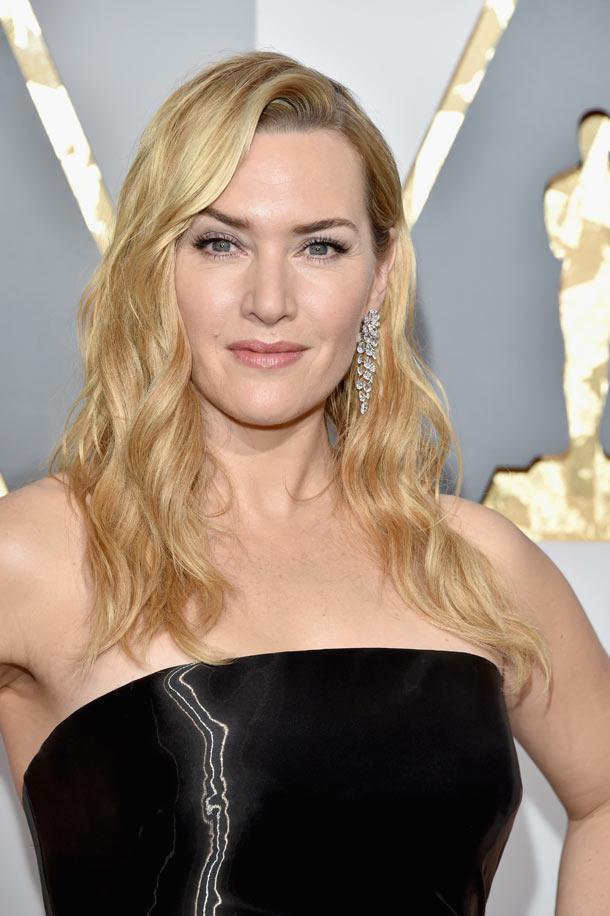Look Kate Winslet na předávání Oscarů 2016, L'Oréal