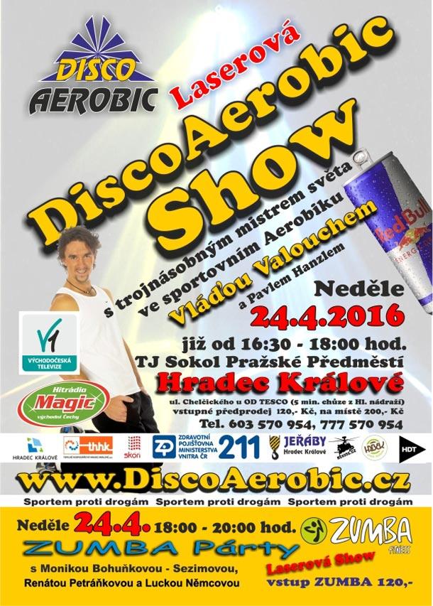 Laserová DiscoAerobic Show s Vláďou Valouchem v Hradci Králové