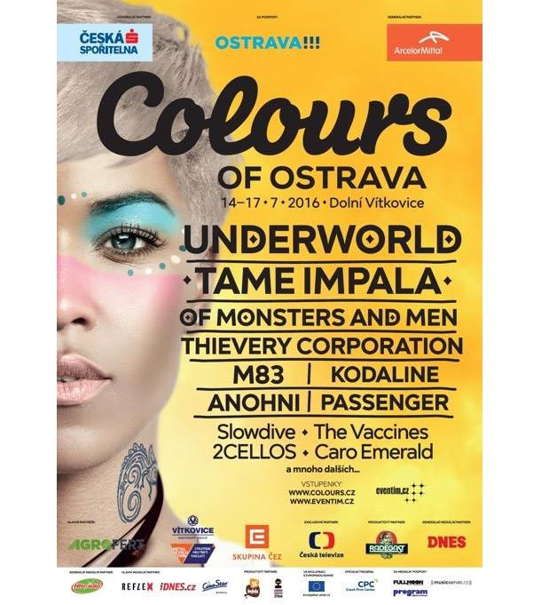 Colours of Ostrava 2016: Underworld, Tame Impala, Of Monters and Men, ale i Robert Fulghum