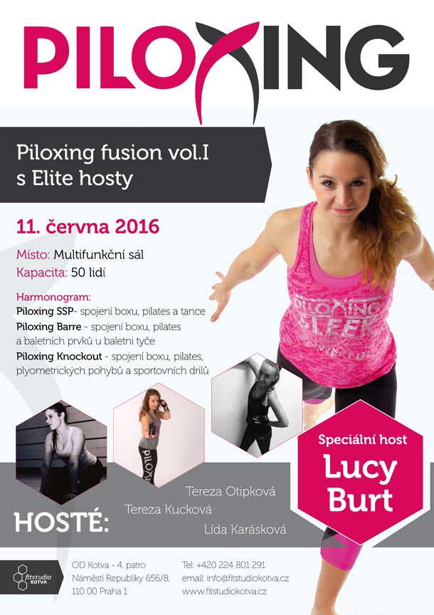 Adélka Hurníková zve na speciální akci před létem: Piloxing fusion vol. 1 s Elite hosty