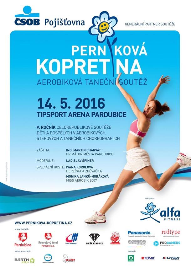 Perníková kopretina - aerobiková taneční soutěž