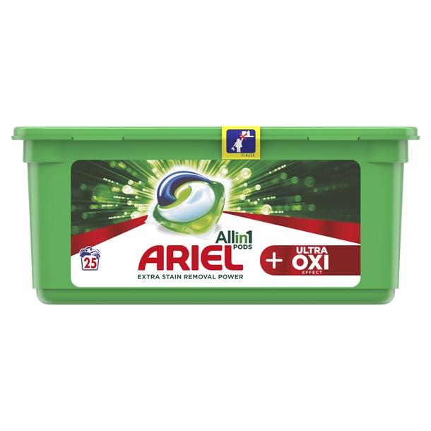 Kapsle Ariel All in 1 Ultra-Oxi PODS - zlepšete praní a uvidíte rozdíl