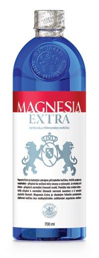 Magnesia Extra obsahuje 312 mg hořčíku v 1 l
