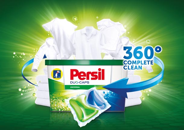 Nové Persil Duo-Caps a Persil Power-Mix Caps 360° s technologií Komplete Clean
