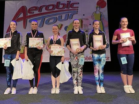 Fotografie vítězů z Finále Aerobic Tour v Otrokovicích