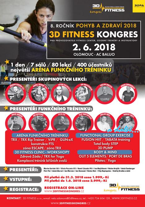 3D FITNESS kongres - 8. ročník Pohyb a zdraví 2018