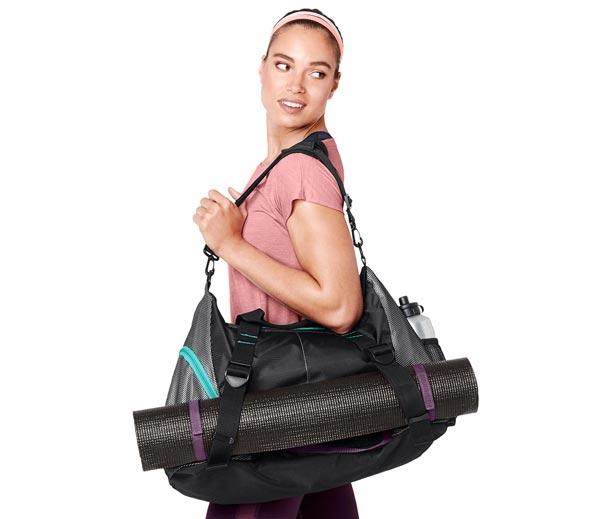 Sportovní taška s popruhem pro cvičební podložku